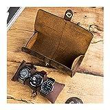 AYGANG Guarda Relojes 1pc 3 Slots Watch Caja de Almacenamiento Chic portátil Vintage Reloj de Reloj de Reloj de Reloj de Reloj para Regalo (Color : Coffee)