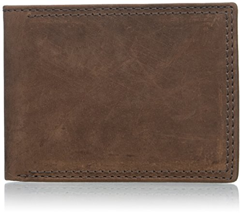 Buxton Men's Thinfold Bifold Wallet, brown, One Size