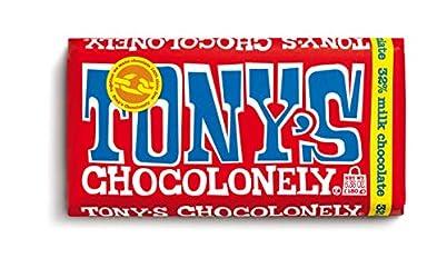 Tony's Chocolonely 32% Milk Chocolate Bar, 6.35 Ounce