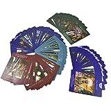 Juegos de cartas Tarjetas de Hadas Tarot 78 Deck Vintage Tarot Tarjetas Divinación Futuro Decling Conjunto de tarjetas de juego