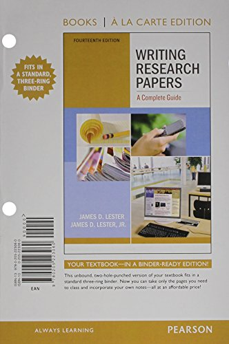 Writing Research Papers: A Complete Guide, Books a la Carte Plus MyWritingLab with eText -- Access Card Package (14th Edition)