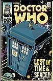 Theissen Doctor Who, Tardis Comic - Póster mate Frameless Gift 11 x 17 pulgadas (28 x 43 cm)...