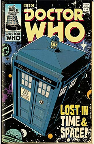 Theissen Doctor Who, Tardis Comic - Póster mate Frameless Gift 11 x 17 pulgadas (28 x 43 cm) *IT-00194