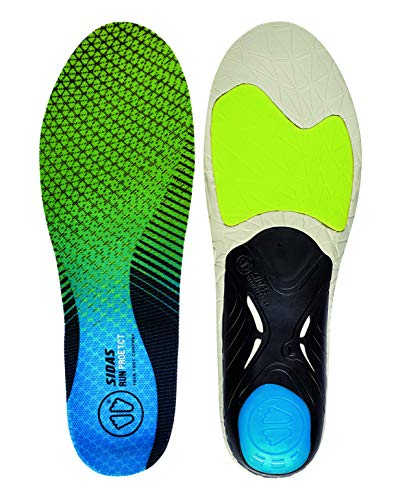 Sidas Sohlen 3D Run Protect-Einlegesohlen, Green/Blue, XL : 44-45, CSE3DRUNPROT19