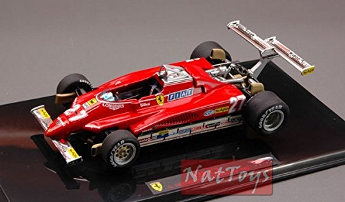 Hot Wheels HWT6268 Ferrari Villeneuve 1982 USA GP 1:43 Elite Die Cast Model Compatible con