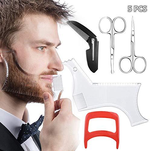 Beard Shaping Styling Tool, Beard Shaping Template Comb Kit, Include...