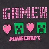 Minecraft T-shirt Ragazzi e Ragazze 12-13 Creeper svolta Grigio