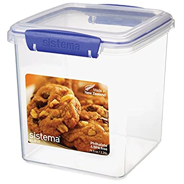 Sistema KLIP IT Utility Collection Cookie Container, 79.5 oz./2.3 L, Clear/Blue