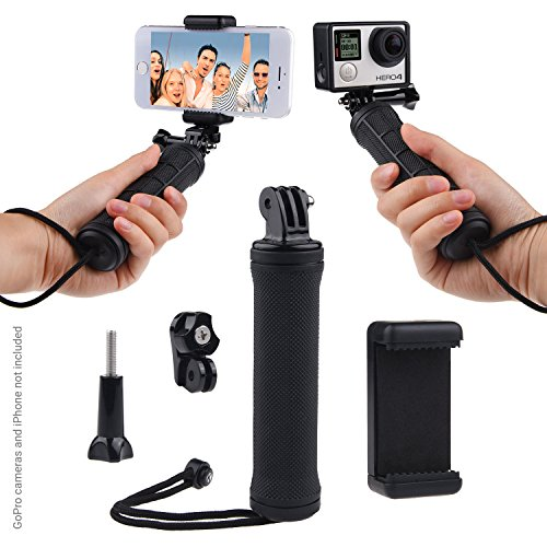 CamKix Stabilizing Hand Grip Compatible with GoPro HERO7 / HERO6 / HERO5, Black, Session, HERO4, Session, Black, Silver, Hero+ LCD, 3+, 3, DJI Osmo Action and Compact Cameras & Phones
