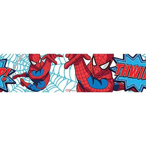 Marvel Spiderman Tapetenbordüre, Rolle 5 m