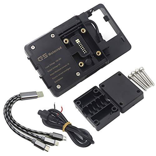 JIEWEI Nuevo soporte del soporte del teléfono delantero de la motocicleta Teléfono inteligente G.P.S Soporte de placa de navegación para ya.ma.ha xmax 300 xmax300 x max 300 Para estrenar
