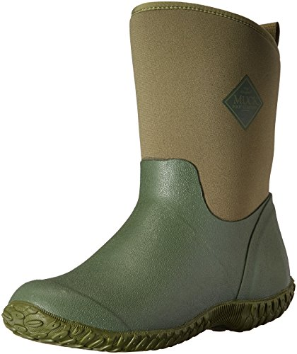 Muckster ll Mid-Height Women's Rubber Garden Boots, Green w/ Floral Print Lining, 8 B US