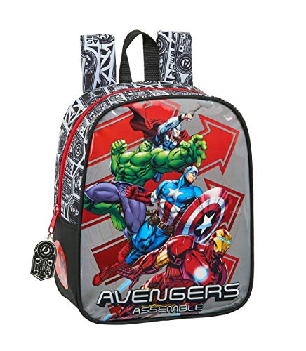 Mochila Guardería Niña Adaptable Carro Avengers safta 612079232  Multicolor