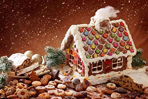 Chocolate Candy House Diamond Painting - CooolPlus 5D Full Round Diamond Painting Dots Kits Candy House Diamond Painting by Numbers Wall Decor Arts Crafts Gift for Adults, Kid (45 x 30 cm)