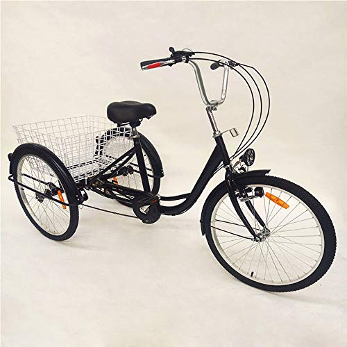 OUKANING Hansemay 24' 6 Speed Adult 3 Wheel Tricycle, Adult...