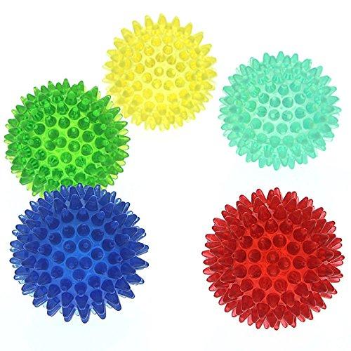 Noppenball, Akupressurball, Igelball, klein 5 cm Massageball mit Noppen für die Reflexzonenmassage, Lila