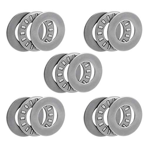 uxcell Tc1018 Needle Roller Thrust Bearings with Washers 5//8-inch Bore 1-1//8-inches Od 5//64-inch Width 16000rpm Limiting Speed 2pcs