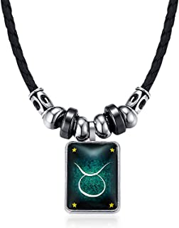 Twelve Constellation The Signs of The Zodiac Astrological Birth-Month Shungite Pendant Necklace
