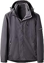 IZHH Mens 2 Piece Sets Windbreakers Detachable Hooded Parka Jacket Down Coats