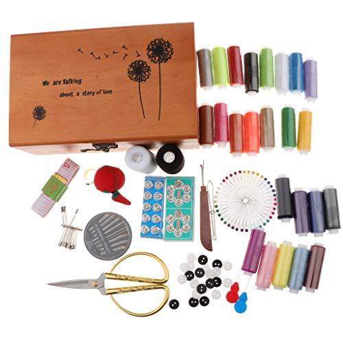 Bonarty Kit de Costura Prof, Accesorios de Costura con Caja de Costura, Herramientas de Costura Universales para