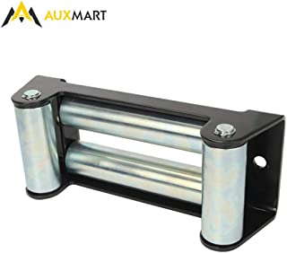 AUXMART Winch Roller Fairlead for Steel Cable 10 Bolt Pattern