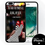 Inspirational Quote Red Slippers Design Print Image Black Hardshell Case by Trendy Accessories for iPhone 7 (4.7)