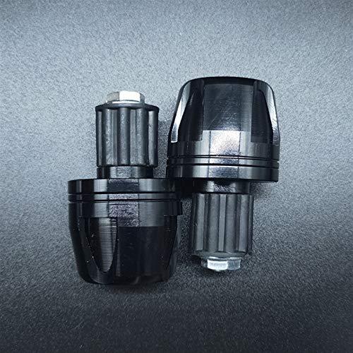 YBSM 2pcs CNC Motocicleta Carretera MTB Manillar Cap Empuñaduras De Mano Bar End Plug 7/8 '' 22mm Manillar Contrapeso Empuñaduras Extremos (Color : Black)