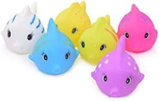 LGXJP Baby Bath Toys, Small Fish Shape, Six Small Fish, Bright Colors Can Cultivate Baby's Color Awareness Baby toys ( Color : Multi-colored )
