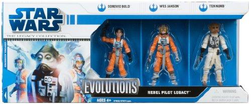 Paquete de evoluciones de Star Wars de 3.75 pulgadas a escala de clones de guerras – Rebellion Pilots Legacy 3 unidades