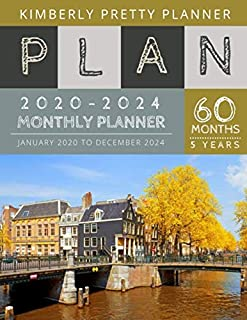 5 Year Monthly Planner 2020-2024: At A Glance 5 Year Planner 2020-2024 | 60 Months Calendar Large Size 8.5 X 11 2020-2024 Planner, Organizer And Internet Logbook