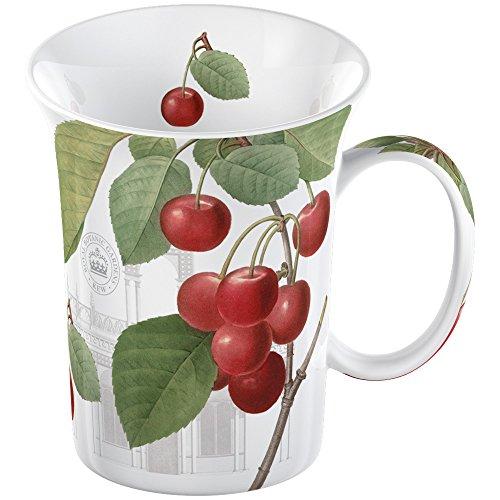 Creative Tops–Taza de Porcelana Royal Botanic Gardens Kew Taza de Porcelana Fina en una Caja, diseño de Cerezas, Color Rojo