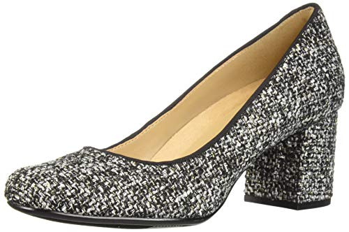 Naturalizer Women's WHITNEY2 Pump, Black/White Tweed Fabric, 6 M US