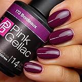 Pink Gellac 173 Burdeos Color Esmalte Gel Permanente 14 días