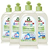 Frosch Baby Cleaning Liquid, for Toys, Dishes, and More 16.9 oz (Pack of 4)…