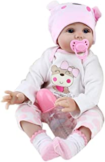 Lazder - Muñeca de rebelde artificial de 55 cm para bebé, juguete para regalo de cumpleaños para recién nacidos
