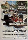 Gran Premio España Fórmula 1 Montjuich 1975 Póster Reproducción – Formato 50 x 70 cm Papel Luxe 300 gr – Venta del archivo digital HD Posible Nos Consultar (tienda: cartel vintage.FR)