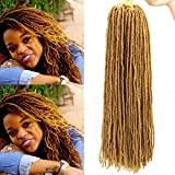 GX Beauty 18Inch Micro Faux Locs Crochet Hair 5Pcs/Lot Goddess Locs Crochet Braids Sister Locks Mini Locs Synthetic African Roots(27#)