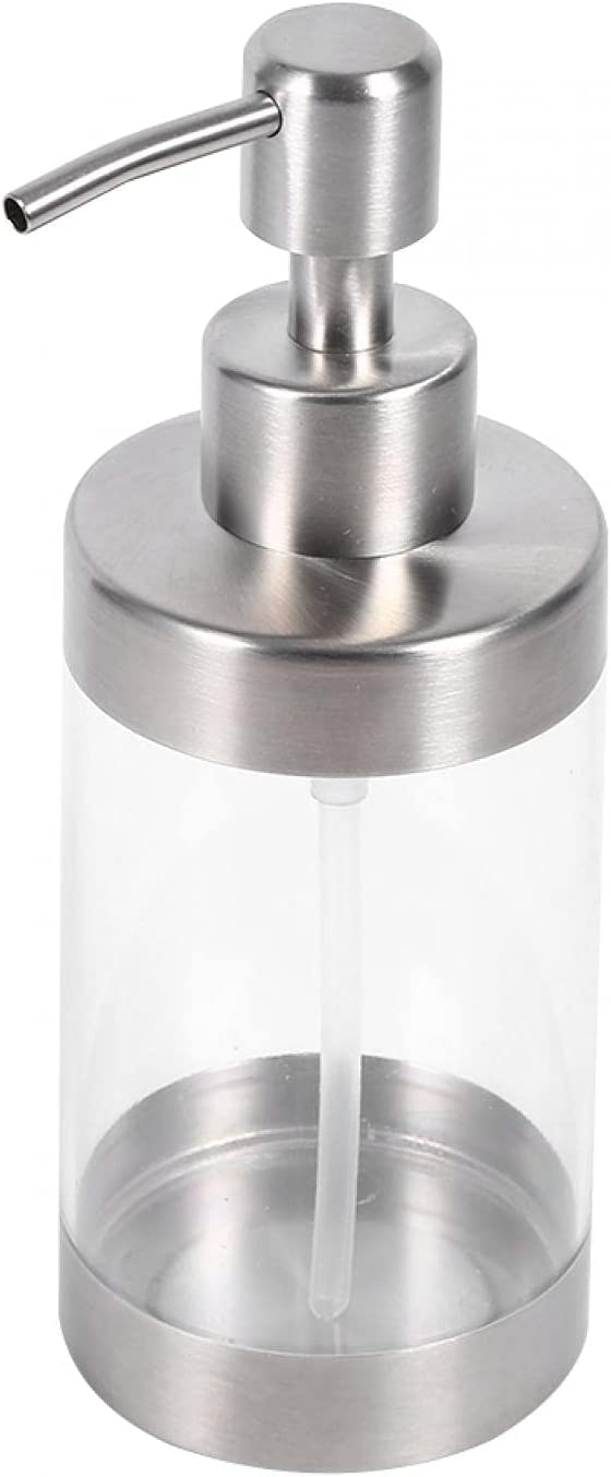 Haofy 1PC 350ml Soap Dispenser Tabletop Bottle Max 78% OFF 304 S Lotion Pump 100% quality warranty!