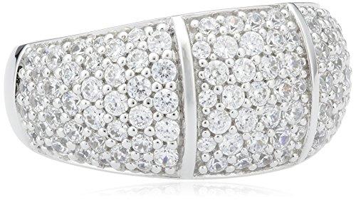 Joop Damen-Ring 925 Silber Perlmutt Rechteckschliff creme Zirkonia Gr. 53 (16.9) - JPRG90691A530