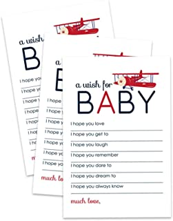 Airplane Wishes for Baby Shower Cards - Set of 20
