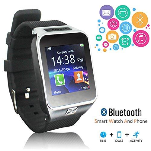 Indigi® innovador Bluetooth SmartWatch manos libres reloj teléfono w/identificador de llamadas notificación