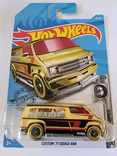 Hot Wheels 2019 Super Chromes Custom '77 Dodge Van, 23/250 Gold
