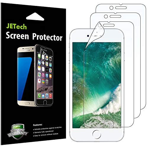 JETech Pellicola Protettiva per iPhone 8 Plus / 7 Plus, Trasparente Pet, Pacco da 3