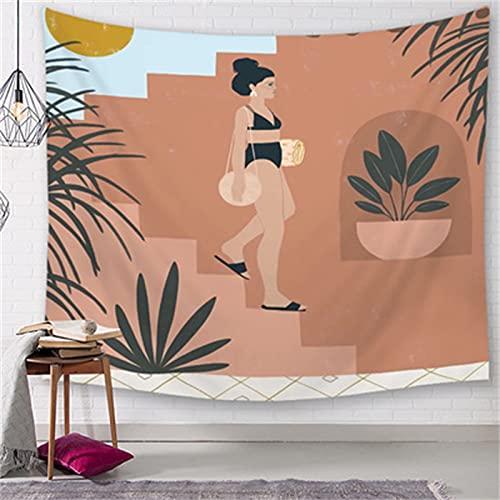 YYRAIN Fondo De Pared De Personaje Abstracto Paño Moderno Hogar Sala De Estar Dormitorio Colgante De Pared Hotel Café Tapiz Tapices De Regalo 79x29 Inch{200x150cm} B
