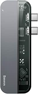 Baseus Transparent Series Dual-Port Type-C Multifunctional HUB Dual Type-C 2 USB 3.0 4K HD Interface Support PD Charging V...