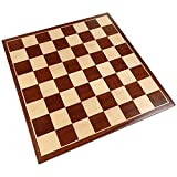 Erebus Chess Board with Inlaid Mahogany Wood, Medium 13 x 13...