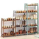 Zapatero de madera de 3 niveles de 4 niveles y 5 niveles, color zapatero organizador para pasillo pequeños espacios, estante de zapatos, altura ajustable, color verde, 50 cm