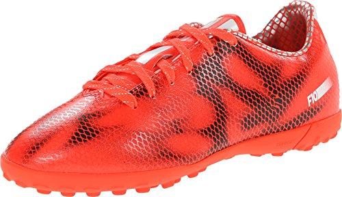 Adidas Performance F10 Turf J - Botas de fútbol para niño grande, Multi (Rojo, blanco), 17 EU