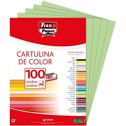 Fixo Paper 11110428 – Paquete de cartulinas A4 – 100 uni