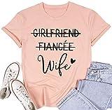 Girlfriend Fiancee Wife Shirt Women Bride Shirt Wifey Hubby just Married Honeymoon Tshirt